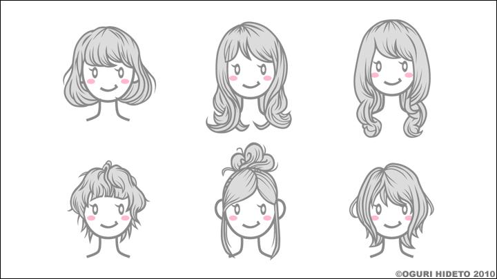 女子髪型一覧|works~clipart~巽卒?脱??巽?損~巽他?奪速孫辿?蔵辰多?|髪型